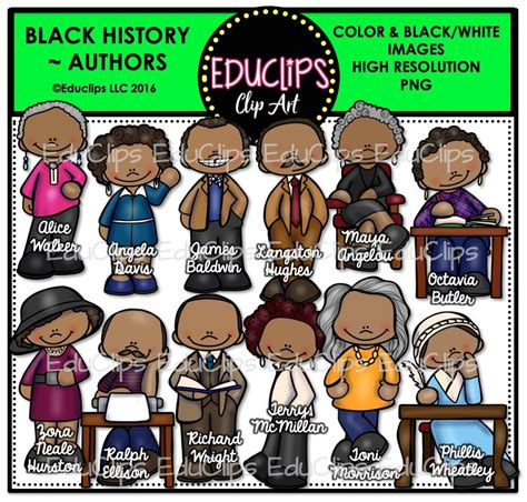 Black History Big Clip Art Bundle (color And B&w