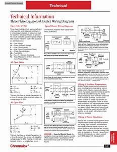 Chromalox Three Phase Equations And Heater Wiring Diagrams