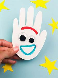 handprint forky craft for from story 4 disney