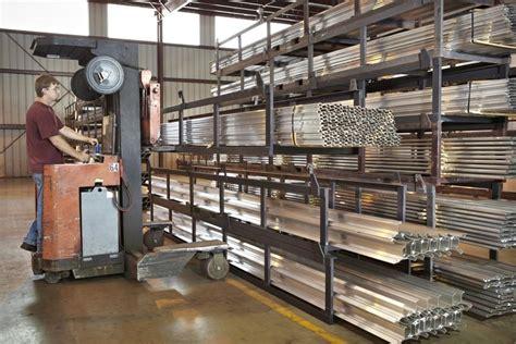 bar stock crane system horizontal bar storage racks  designed   handled  fork lifts