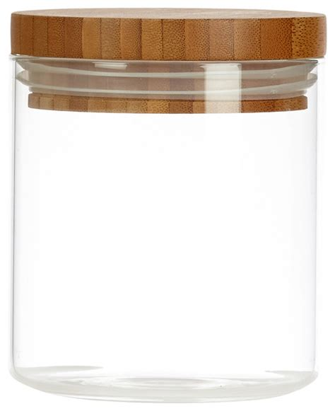 kitchen canisters and jars glassery glassery airtight glass canister with wood lid