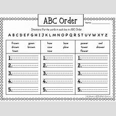 1st Grade Fantabulous Abc Order  Reading  Pinterest  Word Work, Alphabetical Order And School