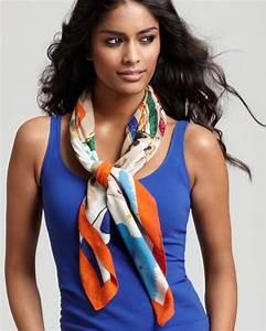 Comment Mettre Une Cravate : comment porter et nouer un foulard diff rentes fa ons le ~ Nature-et-papiers.com Idées de Décoration