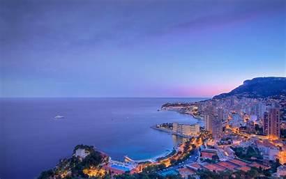Monaco Background Wallpapers Clouds 4k Desktop Cities