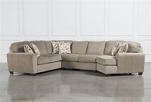 Patola park 4 piece sectional w raf cuddler living spaces for Small sectional sofa with cuddler