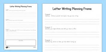 transition letter planning frame