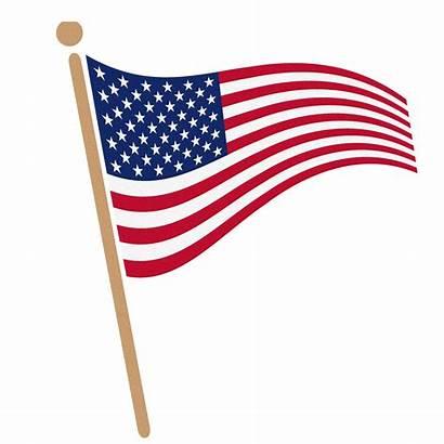 Flag Clip American Waving Cliparts Clipart Attribution