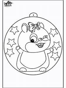 Christbaumkugel Mit Hamster Ausmalbilder Weihnachten