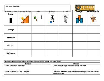 simple machines worksheet by kara mowery teachers pay teachers