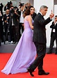 Amal Clooney 2017 Venice Film Festival Lavender Chiffon ...
