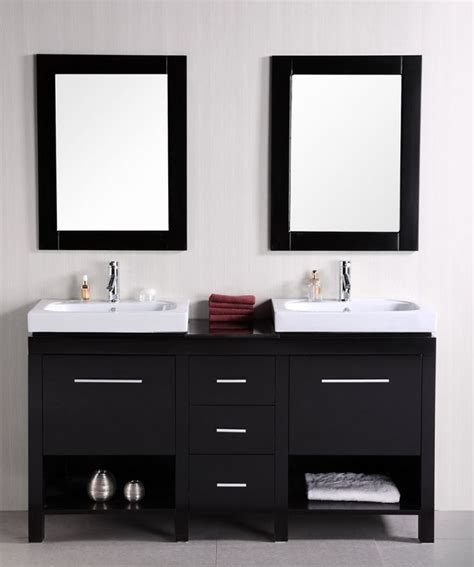 shop small double sink vanities    inches