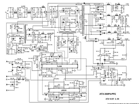 Wiring Diagram For Dell Power Supply Free by Atx 300p4 Pfc Pc Power Supply Sch Service Manual