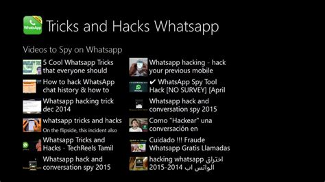 top tricks and hacks whatsapp for windows 8 and 8 1