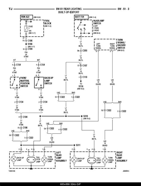 brake light wiring diagram jeepforum