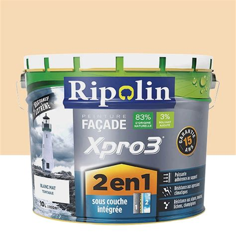 peinture alimentaire leroy merlin peinture fa 231 ade 2en1 xpro3 ripolin ton 10 l leroy merlin