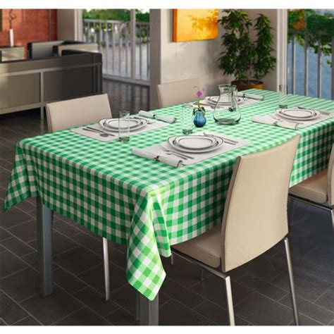 wipe clean table cloth pvc wipe clean vinyl table cloth gingham check green