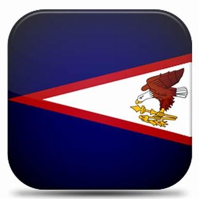 Samoa American Flag Icon Graphic Rectangle Iconbug