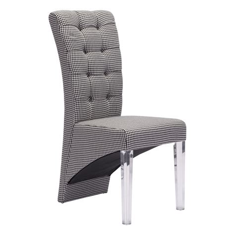 waldorf dining chair houndstooth see white