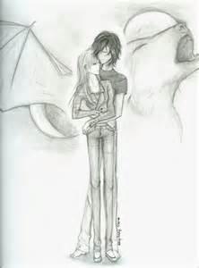 Anime Vampire Werewolf Love Drawings