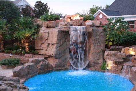 swimming pool waterfall dolphin pools tropical pool