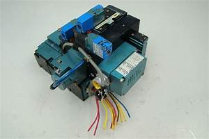 Mac Pneumatic Solenoid 3 Valve Block Bank Mv