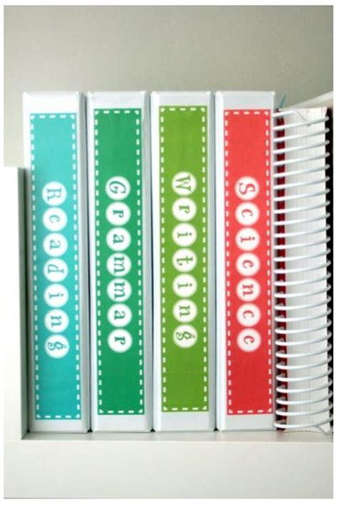 binder label subject binder spine labels free printable teach junkie
