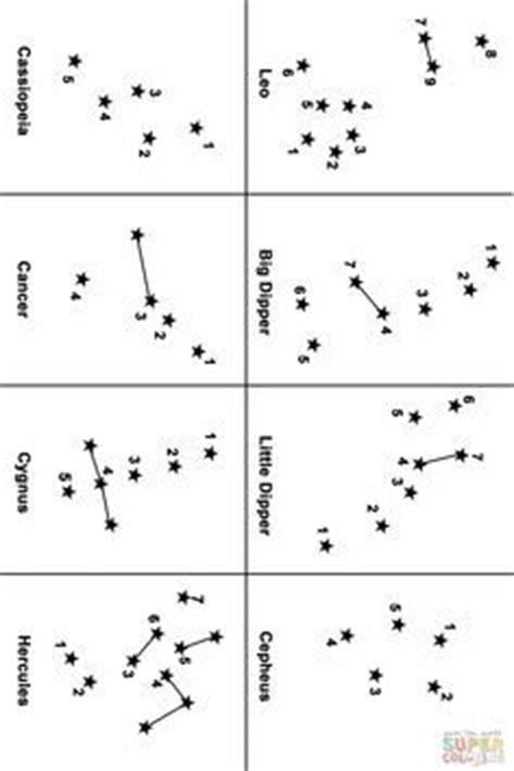 constellation of cygnus worksheet printable constellation map this is a great site for