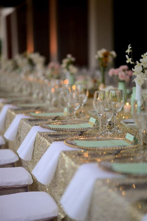 115 Best Images About Mint And Gold Wedding On Pinterest