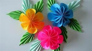 Papierblumen Basteln Anleitung : blumen aus papier notizzettel diy youtube ~ Orissabook.com Haus und Dekorationen