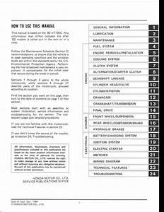 1984 Honda Vt700c Vt750c Motocycle Service Repair Workshop Manual