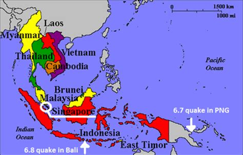 earthquake map bali