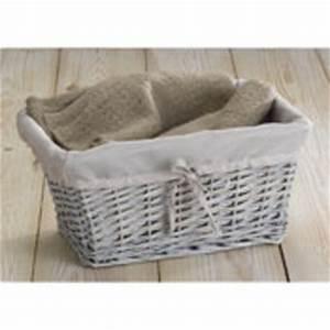 Panier Osier Rectangulaire : osier gris dans panier achetez au meilleur prix avec ~ Teatrodelosmanantiales.com Idées de Décoration