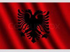 The Albanian flag Stock Photo Colourbox