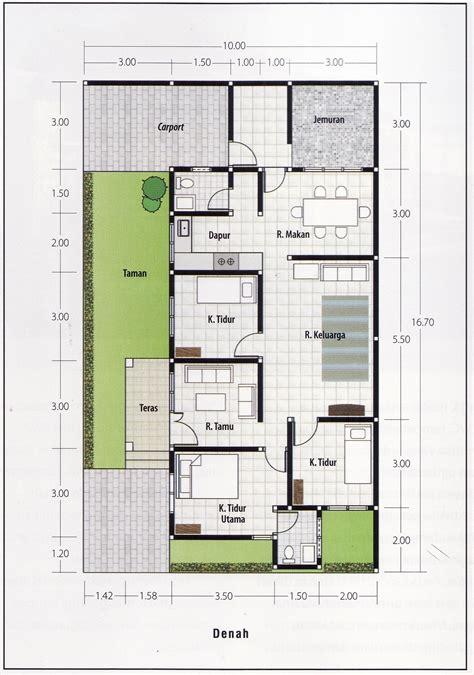 gambar desain  denah rumah minimalis modern  lantai