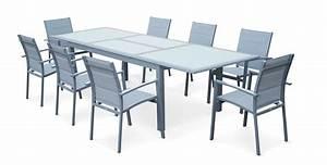 Table Aluminium Extensible : table de jardin aluminium extensible ~ Teatrodelosmanantiales.com Idées de Décoration
