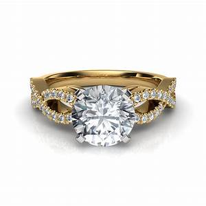 infinity design diamond engagement ring With infinity design wedding ring