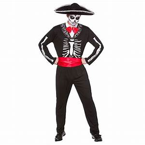 Halloween Skelett Kostüm : mariachi tag der toten skelett herren halloween kost m ebay ~ Lizthompson.info Haus und Dekorationen