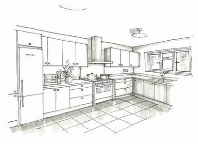 Kitchen Sketch Interior Pdf Drawing Sketches Rendering