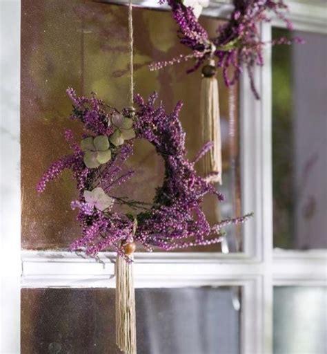 Herbst Deko Fenster by Fenster Deko Herbst Mini Kr 228 Nze Lavendel Schnur Blumen