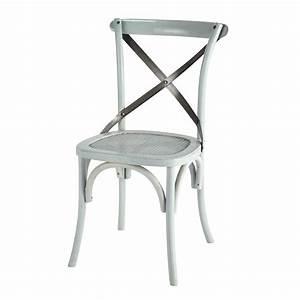 Chaise Rotin Et Metal : chaise en rotin et m tal bleue tradition maisons du monde ~ Teatrodelosmanantiales.com Idées de Décoration