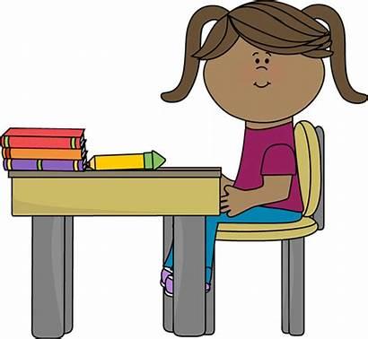 Sitting Clipart Desk Clipartpanda Clip Classroom Panda