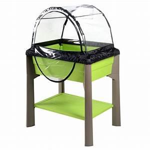 Jardiniere Sur Pied Plastique : jardini re sur pieds pistache serre 80 litres ~ Dode.kayakingforconservation.com Idées de Décoration