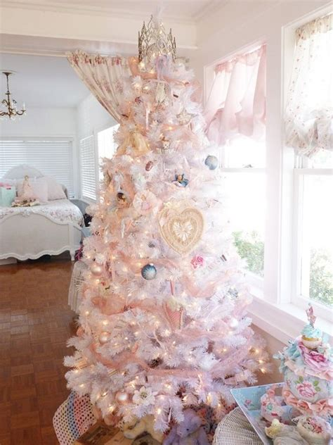shabby chic christmas tree 44 delicate shabby chic christmas d 233 cor ideas digsdigs