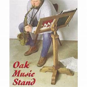 Oak Music Stand Downloadable Plan Music stand