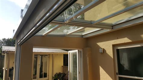 retractable sliding roof system eco awnings