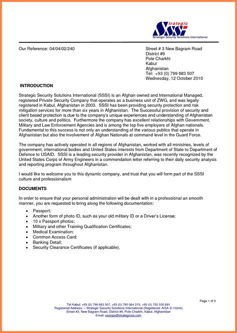 sample company introduction letter company letterhead