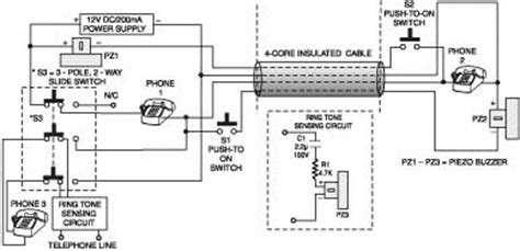 Diagram 2wire Telephone by Plus A Two Wire Intercom Telephone Switch Principle