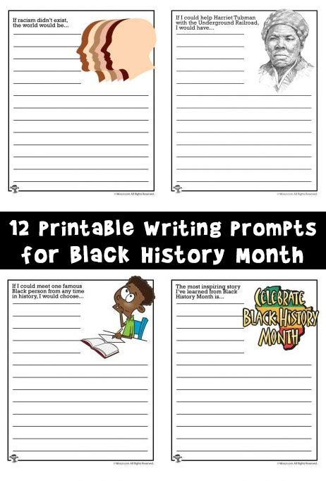 Writing Prompt Worksheets For Black History Month  Woo! Jr Kids Activities