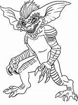 Coloring Pages Ghostbusters Printable Gremlins Stripe Draw sketch template