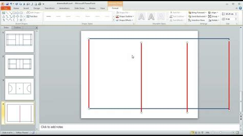 Step 1 In Using Powerpoint To Draw A 'toscale' Netball Court Youtube